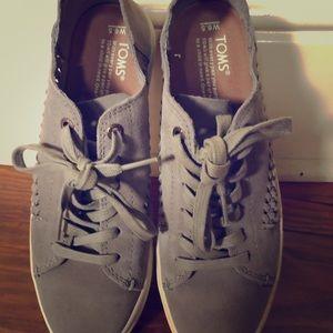 Toms suede shoes
